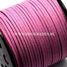 Donker-roze-suede-veter