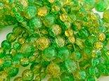 Groen-gele-crackle-twotone-glaskralen