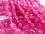 Donker-roze-crackle-glaskralen