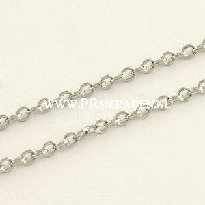 Zilverkleurige rvs  ketting