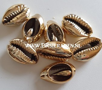 Cowrie schelp electroplated goud