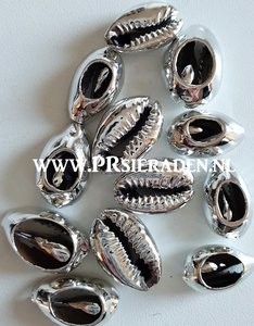 Cowrie schelp electroplated zilver