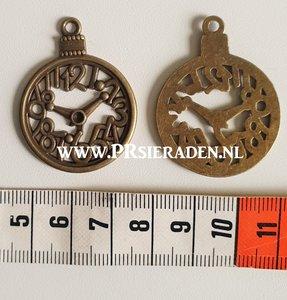 Klok bronskleurige bedel