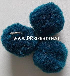 donker turquoise pompom