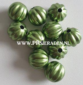 Groen metallic acryl  kraal