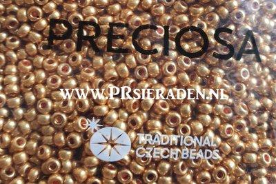 Metallic dark gold Preciosa®  seed beads