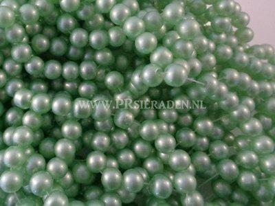 Licht groene pastel glaskralen