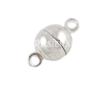 magneet slotje zilverkleurig