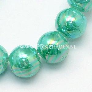 Groene ab color glaskralen