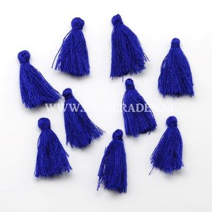 Blauw kwastje