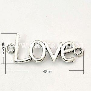 Love zilverkleurig tussenzetsel