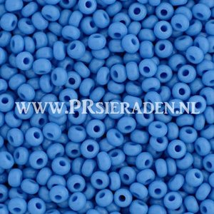 Blauwe opaque Preciosa® seed beads