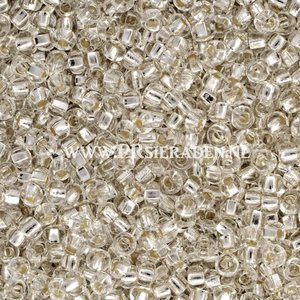 Clear silver inside  Preciosa®  seed beads