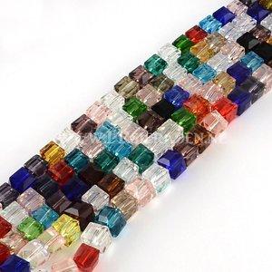 Mix kubus glaskralen