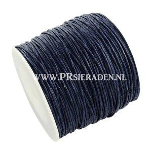 Donker blauw wax draad
