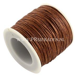 Bruin wax draad 1mm