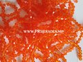 Donker oranje bicone facet glaskralen