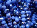 Lavender electroplated abacus facet  glaskralen
