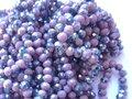 Grote-partij:-Oud-roze-electroplated-abacus-facet--glaskralen