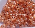 Peach-silverlined-Preciosa-Twin-bead