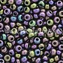 Paarse iris mix Preciosa seed beads