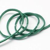 Donker-groen--suede-veter