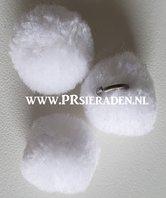 Witte-pompom