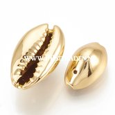 Cowrie-schelp-electroplated-goud