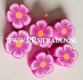 Donker-roze-bloem-fimo
