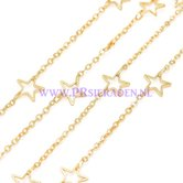 Goud-plated-ster-ketting