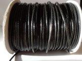 Zwart-polyester-wax-draad-2mm