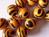 Acryl-zebra-oranje-ronde-kralen