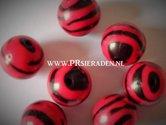 Acryl-zebra-rode-ronde-kralen