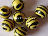 Acryl-zebra-gele-ronde-kralen