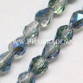 Royal-bleu-electroplated-facet-druppel-glaskraal