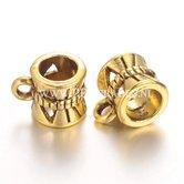 Metalen-goudkleurige--kraal-voor-bedel