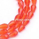 Oranje-transparant-facet-druppel-glaskraal