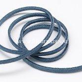 Jeansblauw-suede-veter