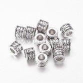 Cilinder-zilveren-kraal